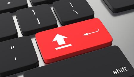 Upload button on keyboard.