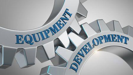 Equipment development written on gear wheel