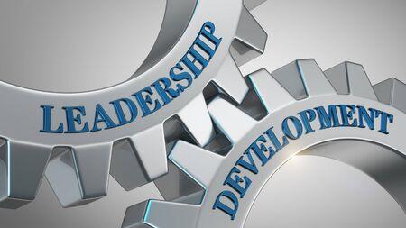 Leadership development written on gear wheel