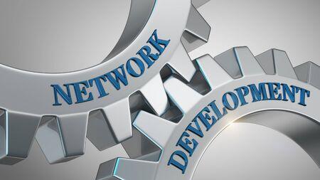 Network development written on gear wheel