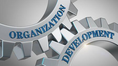 Organization development written on gear wheel