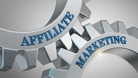 Affiliate marketing written on gear wheel