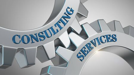 Consulting services written on gear wheel