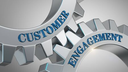 Customer engagement written on gear wheel