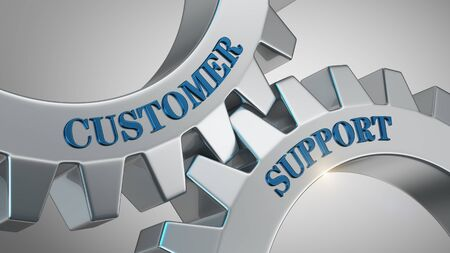 Customer support written on gear wheel