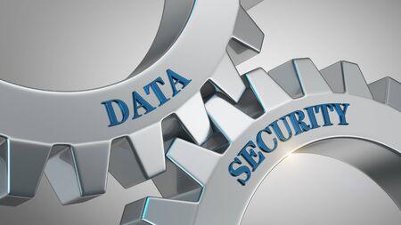 Data security written on gear wheel Stock Photo - 125591271