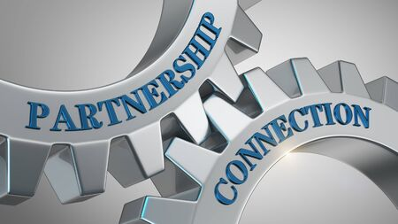 Partnership connection written on gear wheel