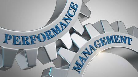 Performance management written on gear wheel