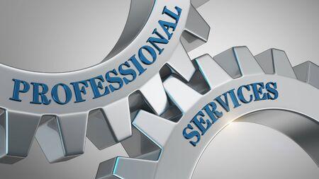 Professional services written on gear wheel