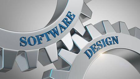 Software design written on gear wheel