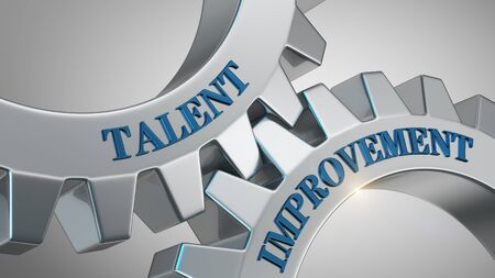 Talent improvement written on gear wheel