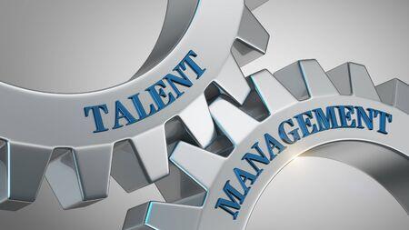 Talent management written on gear wheel