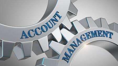 Account management written on gear wheel