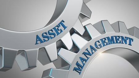 Asset management written on gear wheel