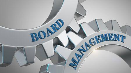 Board management written on gear wheel