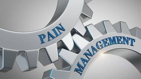 Pain management written on gear wheel