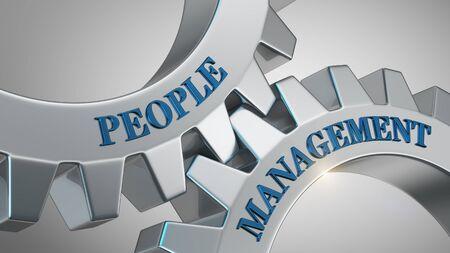 People management written on gear wheel
