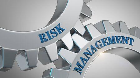 Risk management written on gear wheel