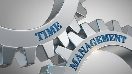 Time management written on gear wheel