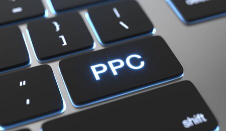 Pay Per Click text on keyboard button. PPC concept 스톡 콘텐츠 - 149453441