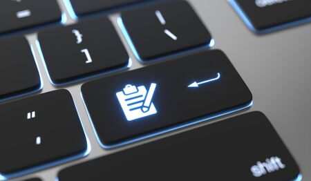 Register icon on keyboard button.