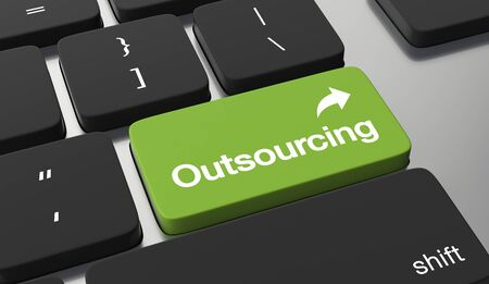 Outsourcing button on keyboard.