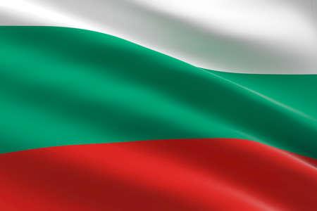 Flag of Bulgaria. 3d illustration of the bulgarian flag waving.