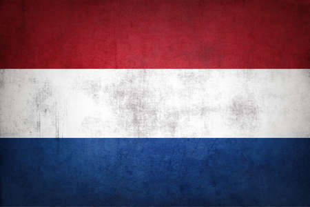 Netherlands flag with grunge texture.