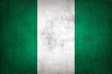 Nigeria flag with grunge texture. Standard-Bild