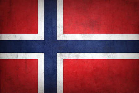 Norway flag with grunge texture.