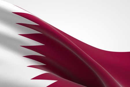 3d render of the Qatari flag waving. Standard-Bild