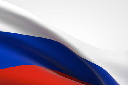 3d render of the Russian flag waving.
