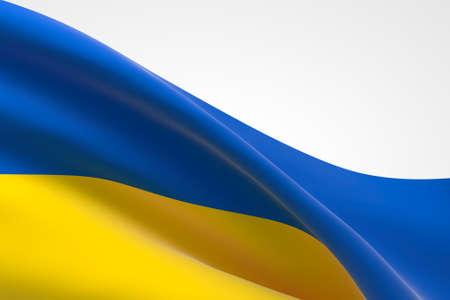3d render of the Ukrainian flag waving.