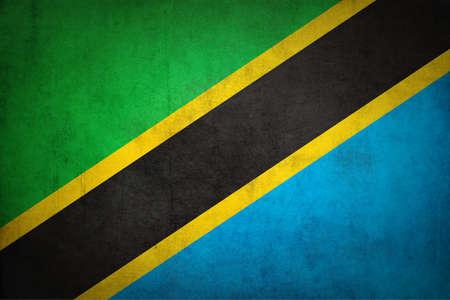 Tanzania flag with grunge texture.