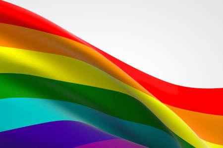 3d render of LGBT flag waving.