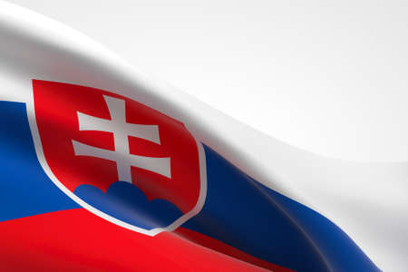 3d render of the Slovak flag waving. Standard-Bild