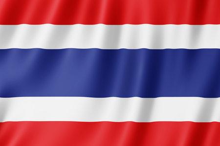 Thailand flag waving in the wind. Standard-Bild