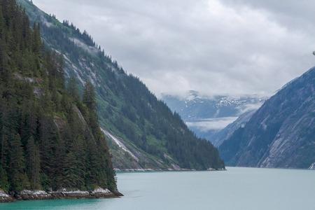 Alaskan landscape with fjords Фото со стока