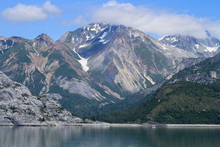 cruising: Alaskan landscape with fjords Stock Photo
