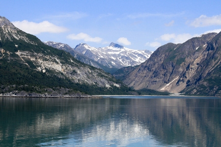 Alaskan landscape with fjords Stok Fotoğraf