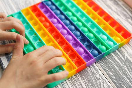 Trendy popular silicone colorful anti stress pop