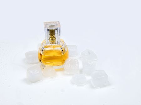 perfumery: Womanish perfumery and melted ice