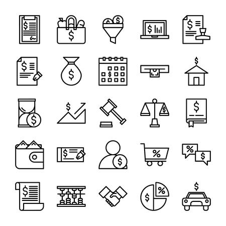 Taxes Icon Outline Ilustração