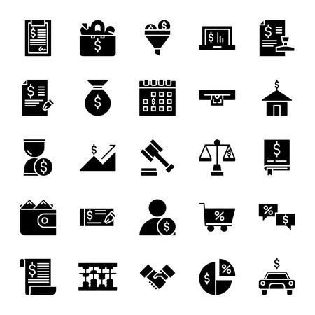 Taxes Icon Glyph