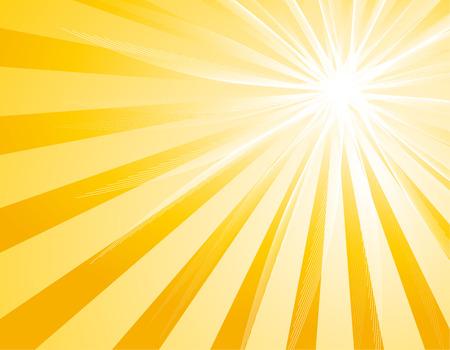 Illustration of bakckground with Sunburst Vector
