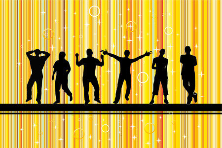 Party with gold background Vector