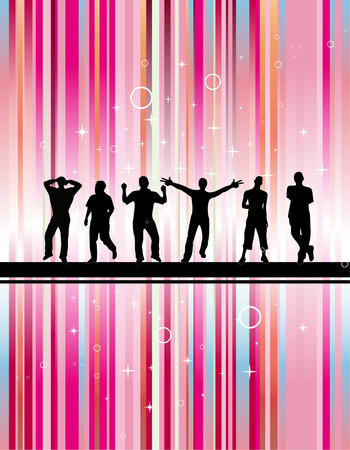 Party with green background Vector