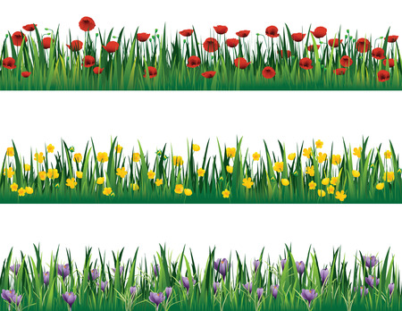 spring bed: Flower elements