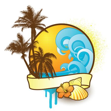 palmtrees: Tropical banner
