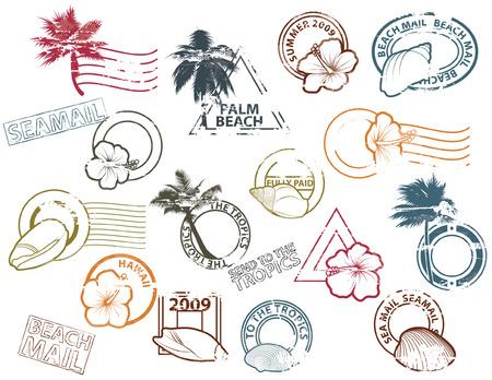 palmtrees: Mail a los tr�picos Vectores